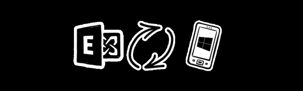 peoplesync sync exchange contact folders to windows phones